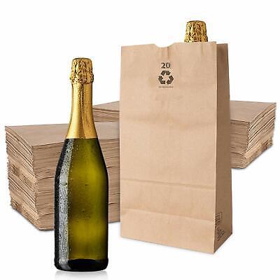20 Lb Kraft Brown Paper Bags (100 Count) - Kraft Brown Paper Grocery Bags Bulk