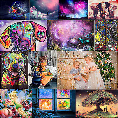 Full Drill 5D Diamond Painting Home Room Decor DIY Xmas Gift With Drawing Tools (Craft Kits)