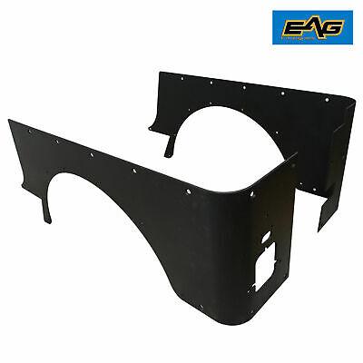 EAG Rear Corner Rocker Guard Steel Armor Fit for 87-95 Jeep Wrangler YJ