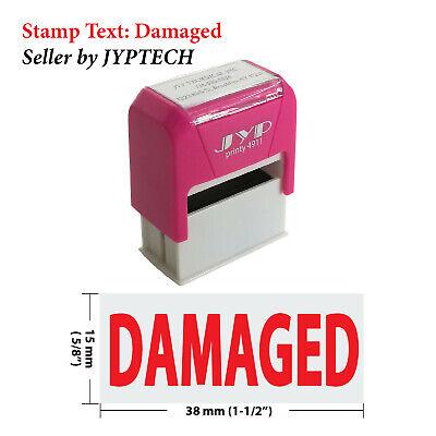 Damaged - Jyp 4911r Self Inking Rubber Stamp Red Ink