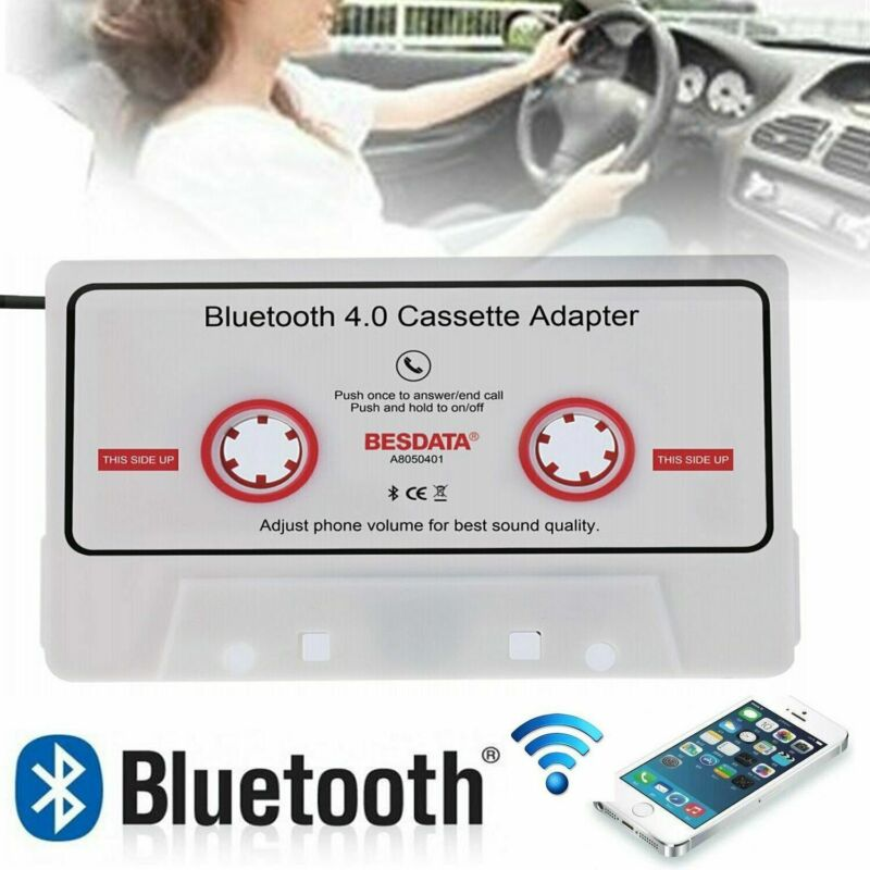 Bluetooth 4.0 Car Audio Cassette Adapter For iPhone Android MP3 CD AUX Converter