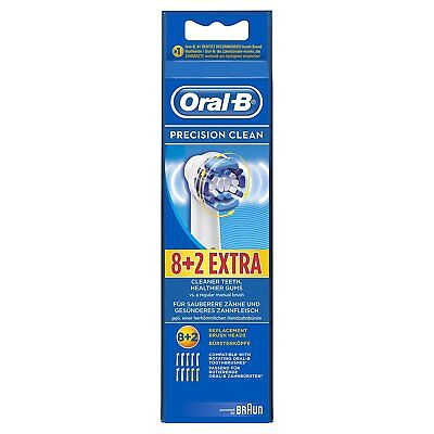 Precision Clean Refills (Oral-B Precision Clean Electric Toothbrush Replacement Head - 10 Refill Brushes)