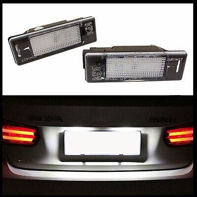 2x LED Premium Iluminación Matrícula Para Citroen C2 C3 C4 C5 C6...