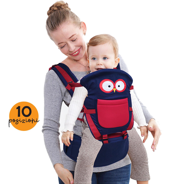 TODOGI Marsupio Neonati Zaino Porta Bambino ergonomico fascia bebè 10 in 1 GUFO