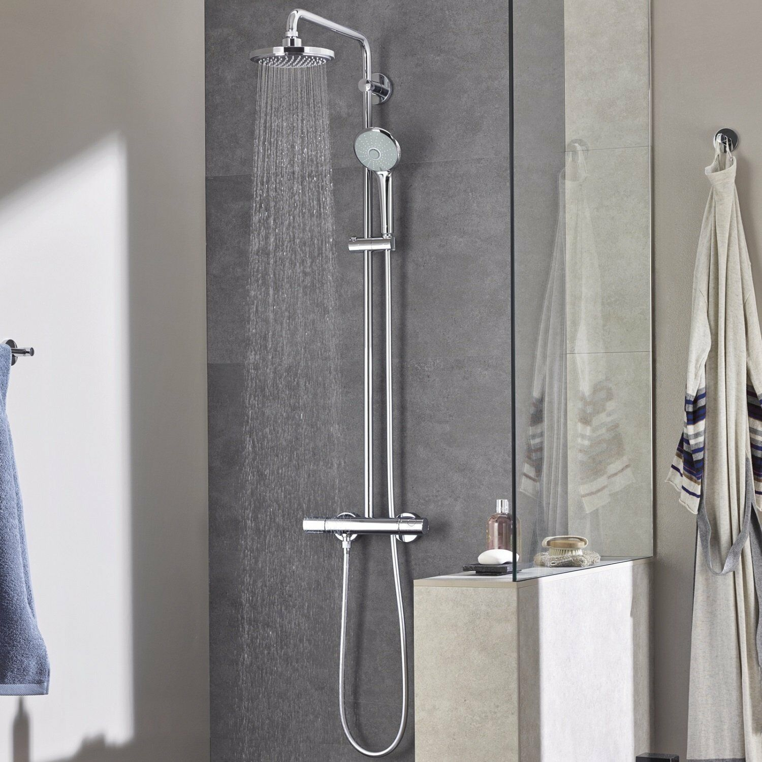 Grohe 27296001 Euphoria 180 Thermostatic Shower With Bar Shower Mixer 4005176896293 Ebay