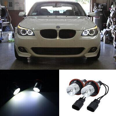 2X 7000K 10W ANGEL EYES LED HALO Ring Marker Light For BMW E39 E53 E60 E61
