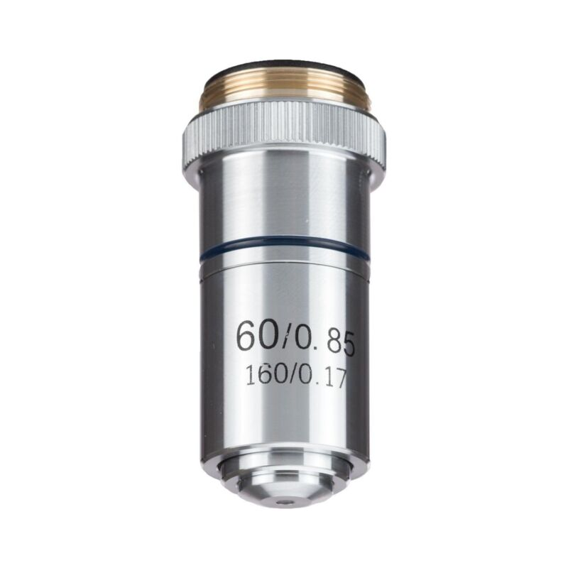 AmScope A60X-YX-V460 60X Achromatic Microscope Objective + Container