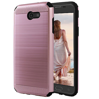 For Samsung Galaxy J3 Emerge/Luna Pro/J3 Prime/J3 2017 Hybrid PC Hard Case Cover