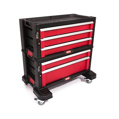 Werkzeugwagen Werkstatt mit 5 Fächer Schublade Rollen Wagen Werkzeugkiste Curver
