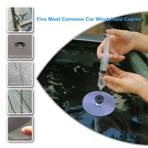 US PDR DIY Car Glass Chips Crack Repair Kits Windshield Windscreen Repair Tools