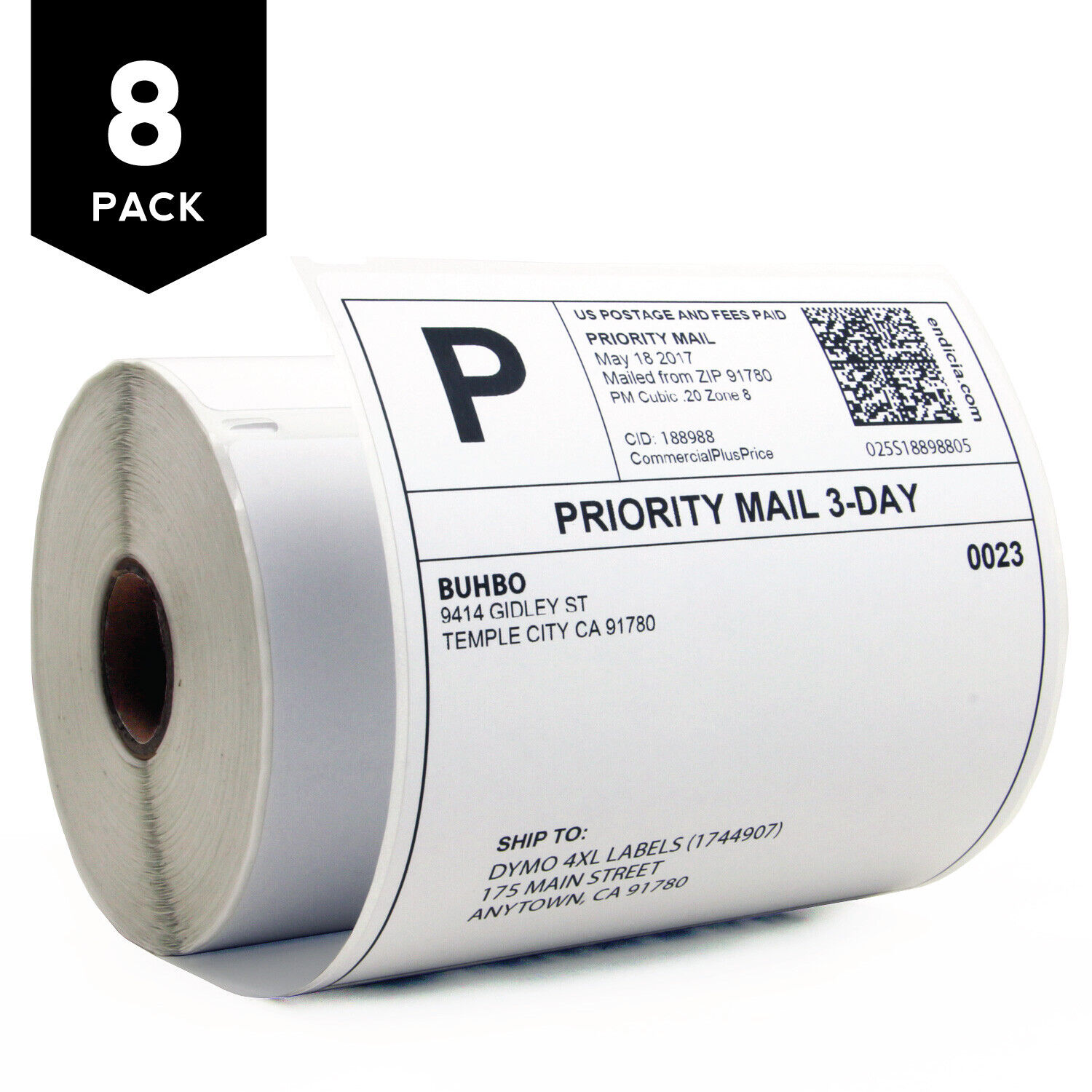 """Buhbo DYMO 4XL Compatible 4"""" x 6"""" Shipping Label 1744907, Wh"""