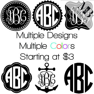 BEST CUSTOM MONOGRAM PERSONALIZED NAME INITIALS VINYL CAR BOTTLE DECAL (Best Car Vinyl Stickers)