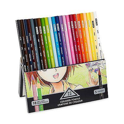 Prismacolor Premier Soft Core Colored Pencil, Set of 23 Assorted Manga Colors