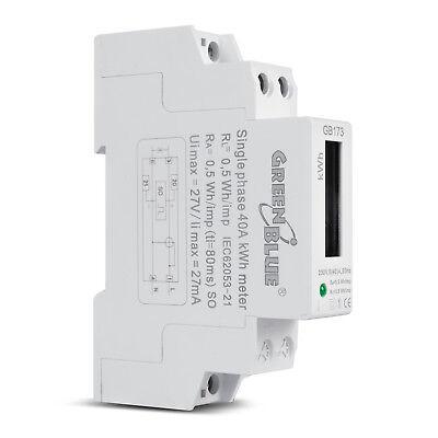 Stromzähler Wattmeter DIN Hutschiene Energie Strommessung LCD Digital 230V