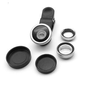3in1-Clip-On-Camera-Lens-180-Fisheye-Wide-Angle-Macro-SmartPhone-iphone-6-Silve