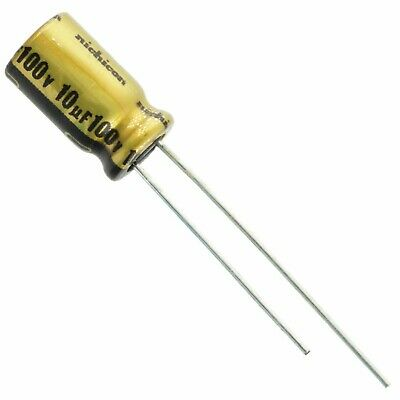 2 Pcs Nichicon 10uf 100v Fw Series Audio Electrolytic Capacitor - Usa Seller