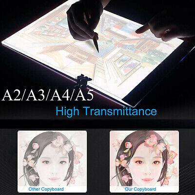 Light Box Board Art Tattoo A2/A3/A4/A5 Drawing Pad Table Stencil Display US U8S3