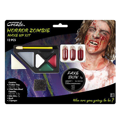 Scary Horror Zombie Fake Blood Capsules Skin Halloween Face Paint Make Up Kit  (Paint Scary Halloween Face)