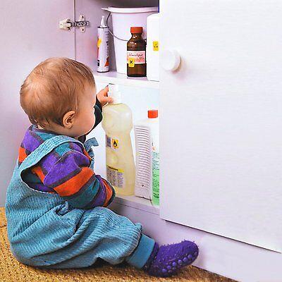 4 1 unsichtbare kindersicherung magnetschloss f r schrank schubladen ebay. Black Bedroom Furniture Sets. Home Design Ideas
