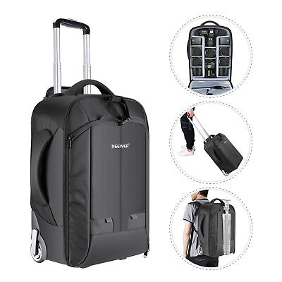 Neewer Convertible Rolling Camera Backpack for SLR/DSLR Came