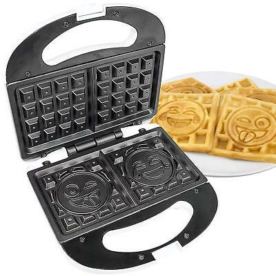 Emoji Waffle Maker 2 Slice Iron Makers Small Kitchen Appliances Breakfast Fun  for sale  Shipping to Canada