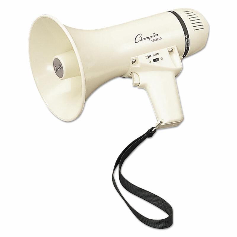 Champion Sports Megaphone 4-8W 400 Yard Range White MP4W