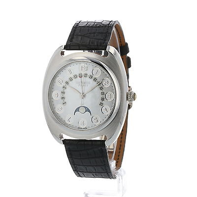 Hermes Dressage Platinum Retrograde Date Moon-Phase DR2.765 Watch with Full Set
