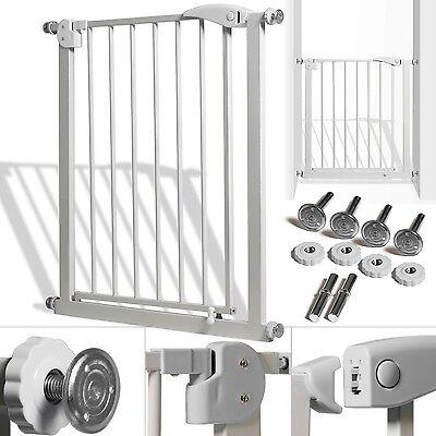 Türschutzgitter Absperrgitter Gitter Treppengitter Kindergitter 74-87 cm Grau