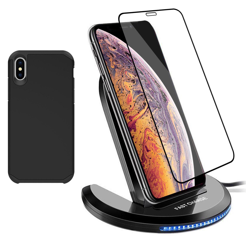 For iPhone 11 Pro Max XS XR X 8 Plus Qi Wireless Fast Chargi