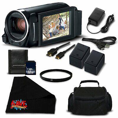 Canon VIXIA HF R800 Camcorder (Black) Full HD 1080p - Silver Level Bundle
