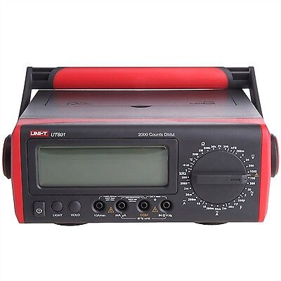 Uni-t Ut801 Bench Type Digital Multimeter Thermometer Lcd Display Data Hold