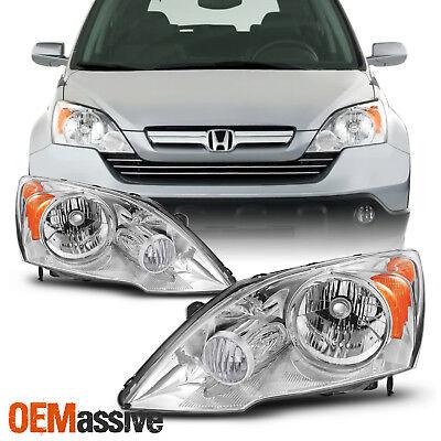 Fit 2007 2008 2009 2010 2011 Honda CRV CR-V Left + Right Headlights Lamps