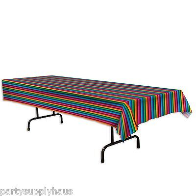 Fiesta SERAPE PRINT plastic TABLE COVER Mexican Party Decoration DAY of the DEAD