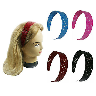 4 PCS Wide Headbands Hair Band Solid Color Assorted Women Girl Stars or Heart (Star Headband)