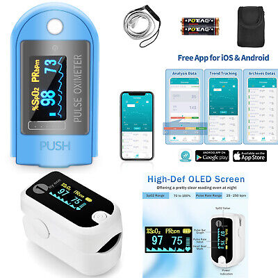 1byone Bluetooth Oled Finger Pulse Oximeter W Carrying Case Fda Ce Thanksgiving