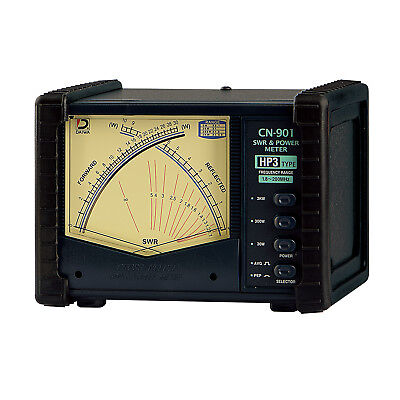 Daiwa CN-901HP3 - 1.8-200 MHz Cross Needle SWR & Power Meter, UHF -