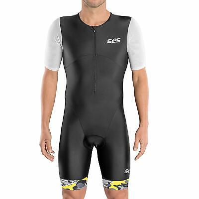 SLS3 Triathlon Suit Men - Trisuit - Tri Suits with Sleeves - Mens Aero Tri Suit (Tri Suits Mens)