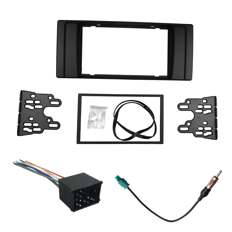 Radio Fascia for BMW E39 E53 2 Din Stereo Panel DVD Dash