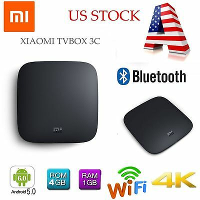 Xiaomi Mi 3C 4K TV Box Android Quad Core 2.4GHz 5GHz WiFi BT Smart Media Player