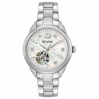 Bulova Silver Analogue Women Watch Automatic Ladies 96P181