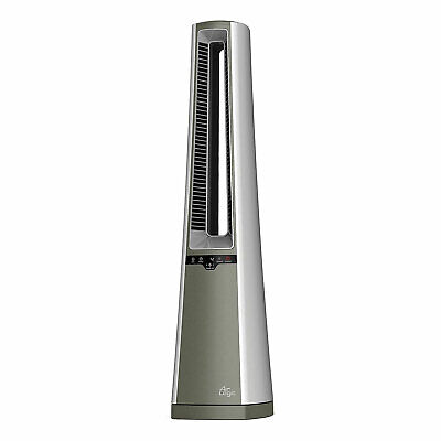 Lasko AC600 4 Speed Bladeless Remote Control Oscillating Tower Floor Fan, Silver Heating, Cooling & Air