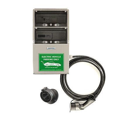 WB24 Wallbox 3 Phasig 400V 22kW 32A Typ 2 5m Ladestation mit Stromzähler für Ele