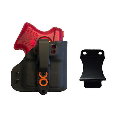 Custom Holster fits Kimber Pepper Blaster II IWB ~INTERCHANGEABLE BLACK-ORANGE~ - Blaster Holster