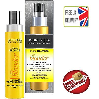John Frieda Sheer Blonde Go Blonder Lightening Spray for Blonde Hair, 100 ml NEW
