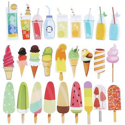 60 Pieces Summer Bookmarks Cold Drink Theme Funny Cute Colorful Bookmarks