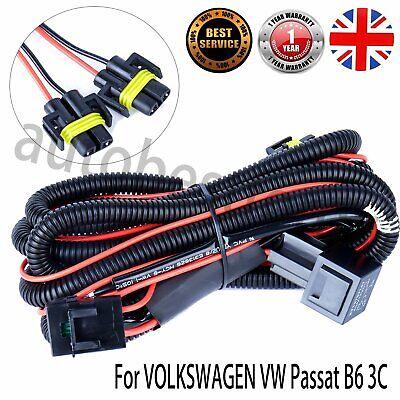Wiring Loom Harness Kit Front Fog Lights Lamps For Passat B6 3C
