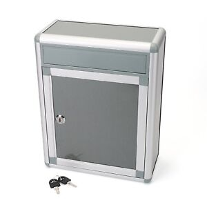 Key Lock Drop Box Safe Wall Office Mail Cash Suggestions Security Slot Mount