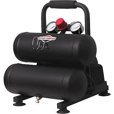 Briggs Stratton 120241 Twin Stack 2 Gallon Air Compressor Max 100 Psi Black