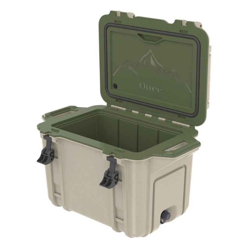OtterBox Venture Heavy Duty Outdoor Camping Fishing Cooler 45-Quarts, Tan/Green
