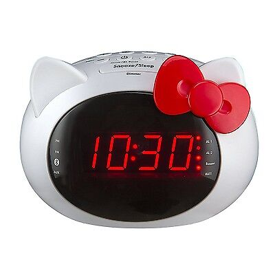 iHome Hello Kitty Bluetooth Dual Alarm Clock Radio Speaker (Si-B62.FX) for sale  Shipping to Canada